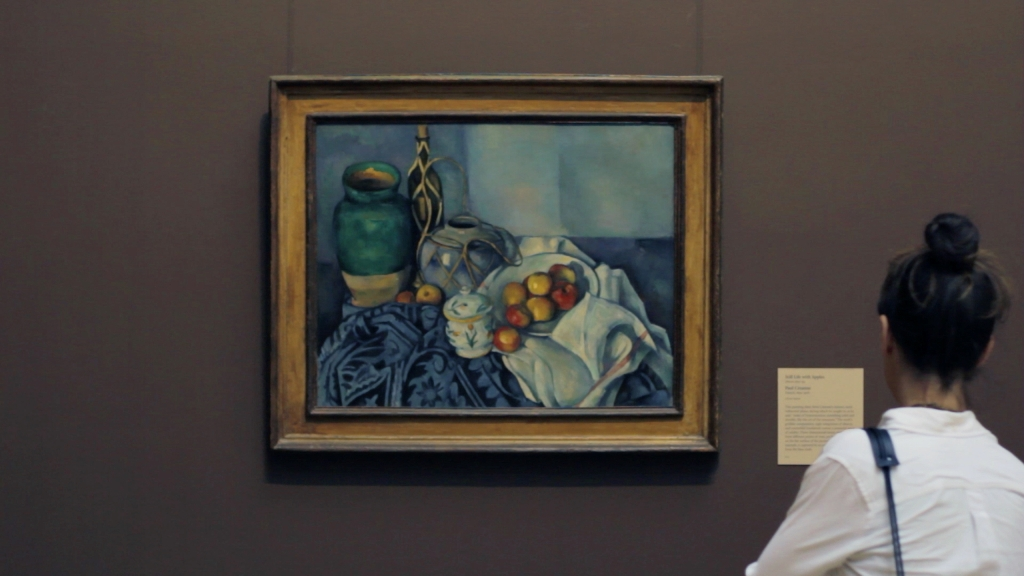 Justin Balmain, screenshot of work-in-progress – Paul Cézanne,  Still Life with Apples , 1893 – 1894, Oil on canvas, The Getty Center, Los Angele