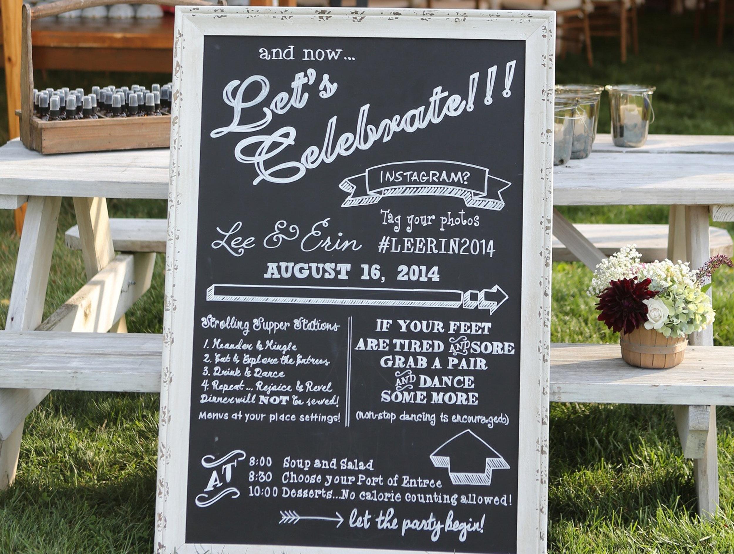 Wedding Dinner Board