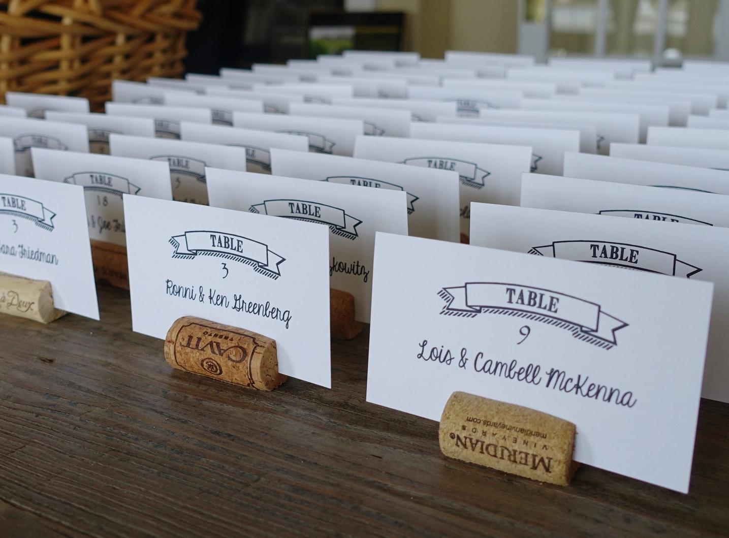 Wedding Seat Cards