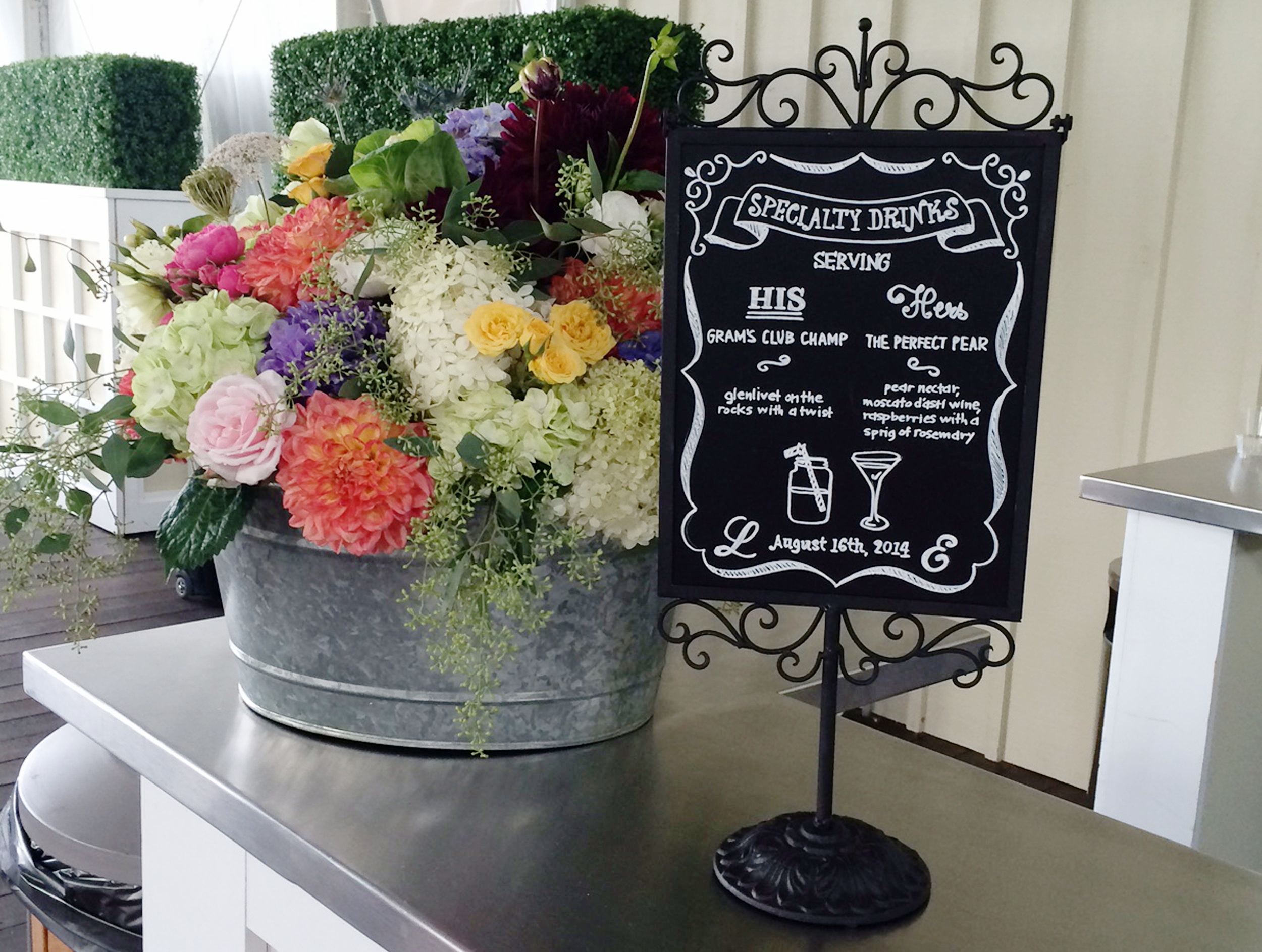 Wedding Specialty Drinks Sign
