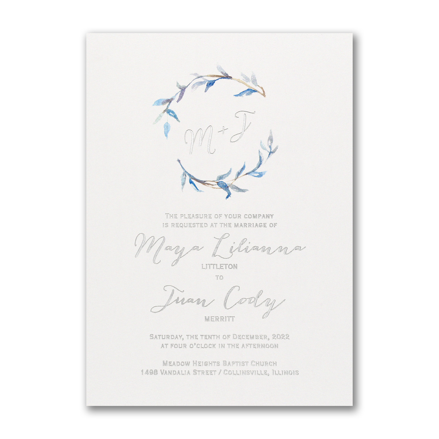 Watercolor Whimsy Periwinkle
