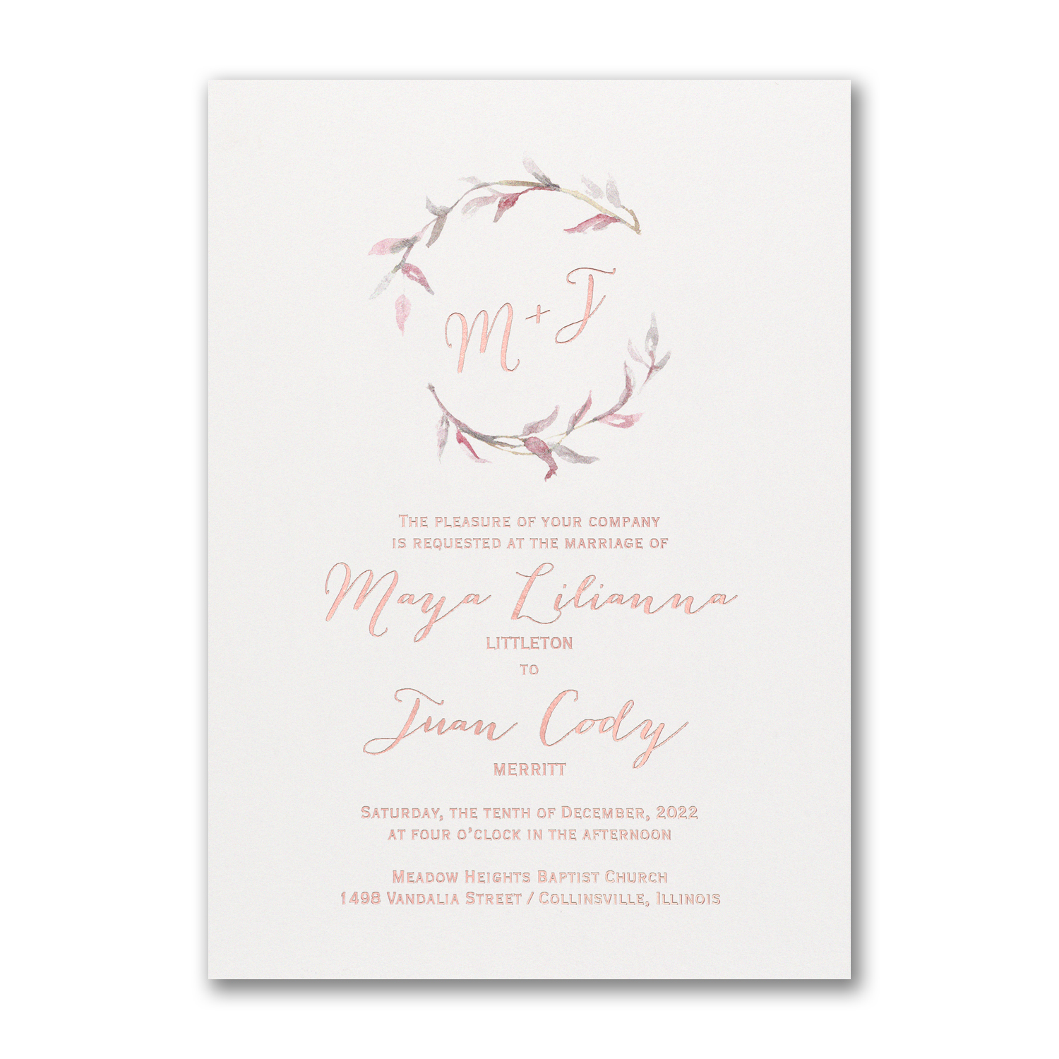 Watercolor Whimsy Rosewood
