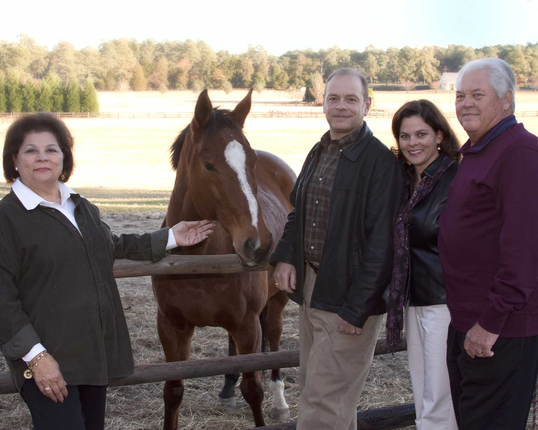 With Fay's parents visiting our horse, Tango