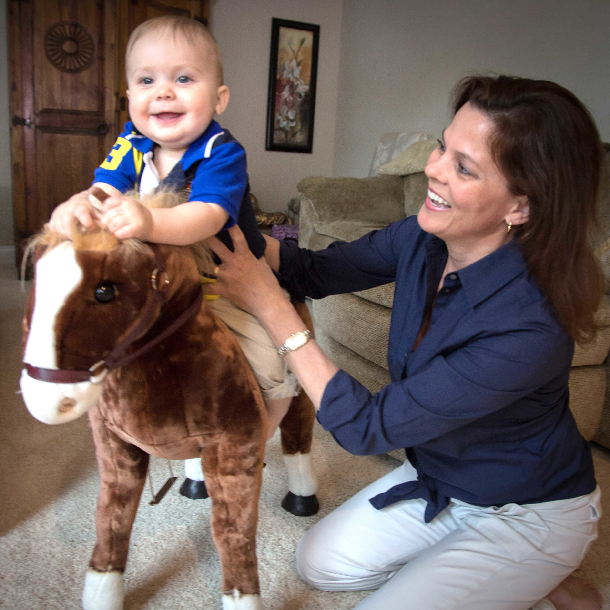 """Benjamin and mommy playing """"horsey"""""""
