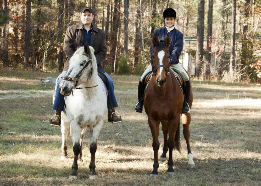 One of our favorite hobbies is riding horses