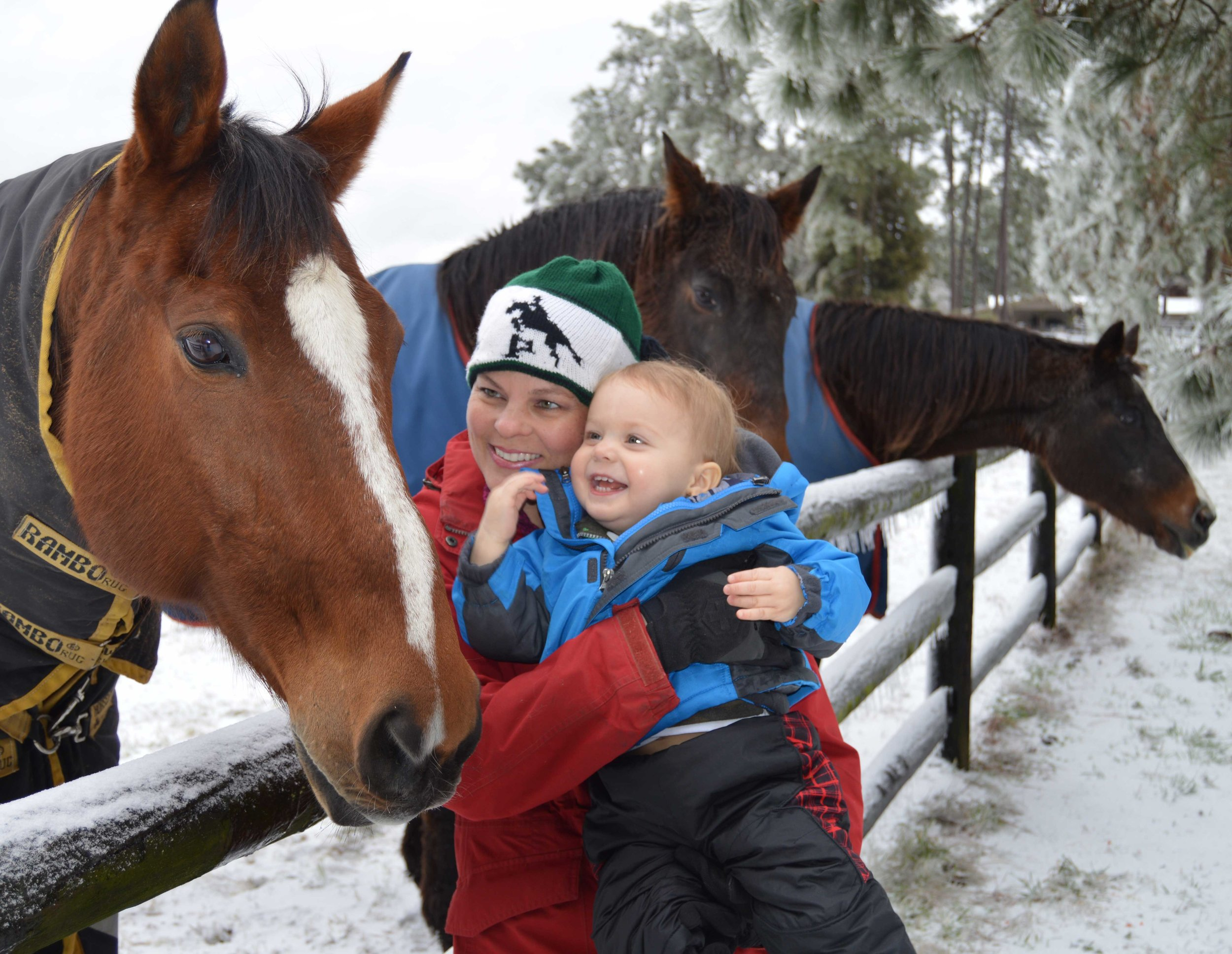 Fay and Benjamin on visiting Tango on a snow day