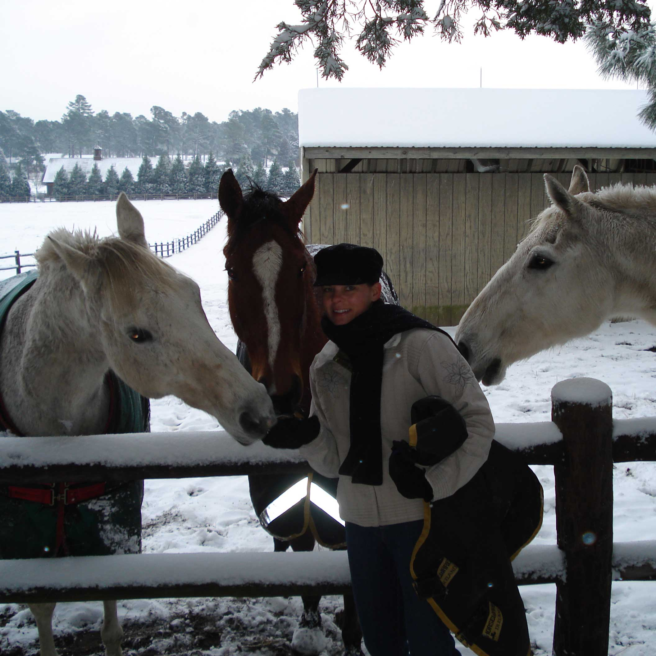 Fay with our horse Tango