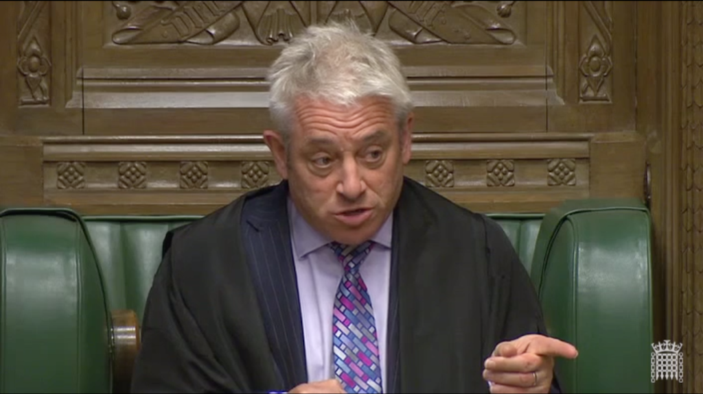 John Bercow MP, Speaker of the House of Commons, speaking during Urgent Question on Hong Kong on 18 June 2019