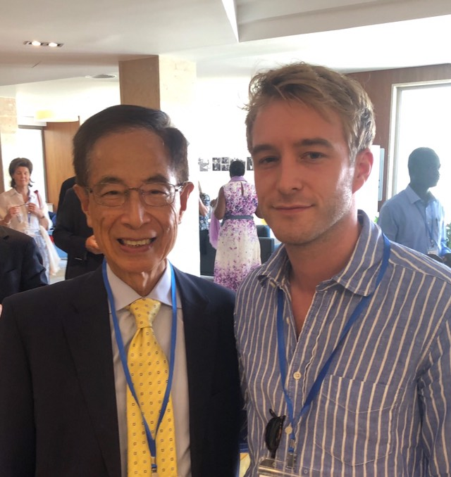 Luke de Pulford - Conservative Party Human Rights Commissioner - pictured with Hong Kong's father of democracy, Martin Lee.