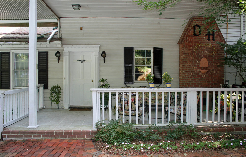 Back entry and porch