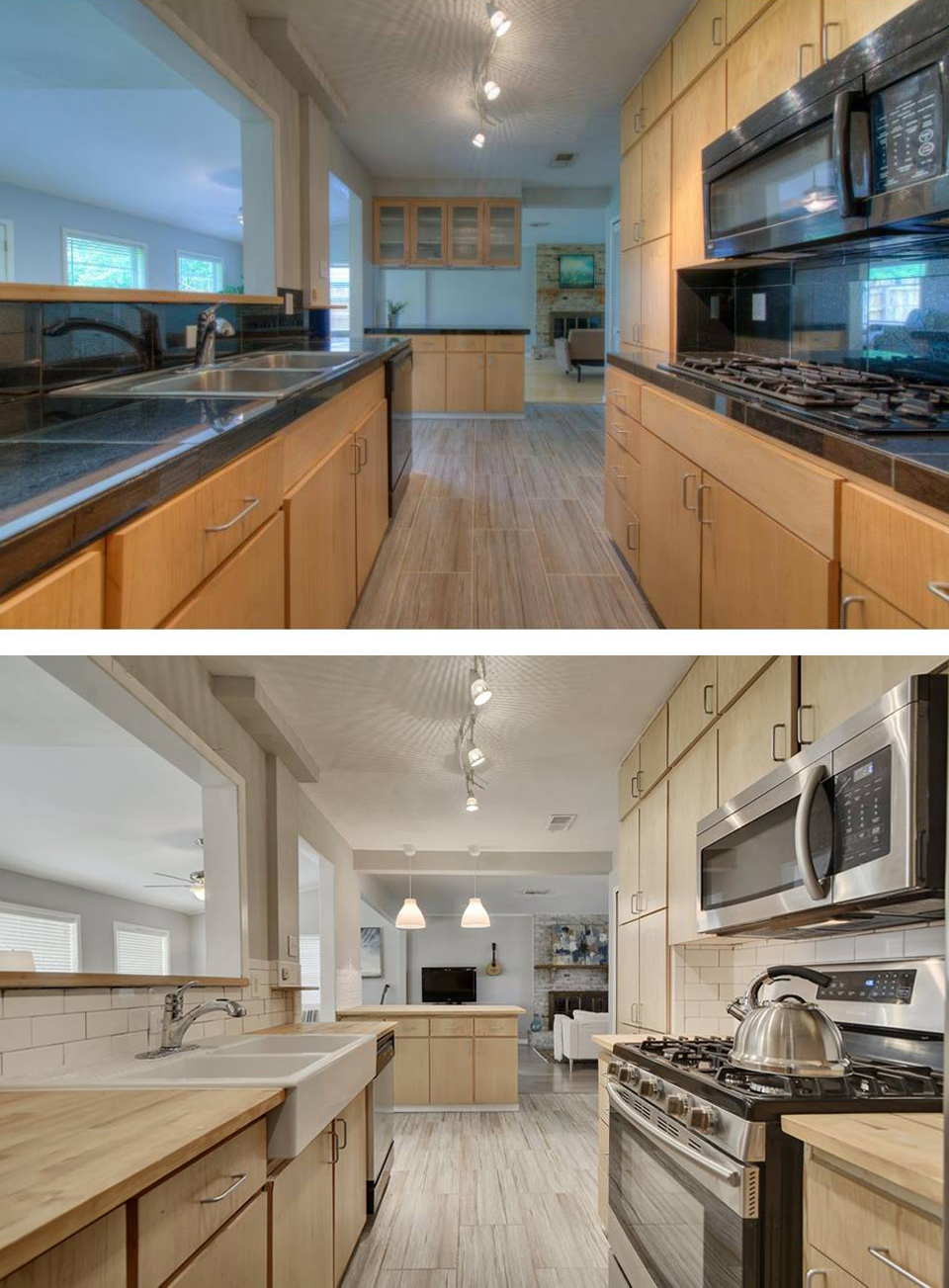 Before & After of Kitchen