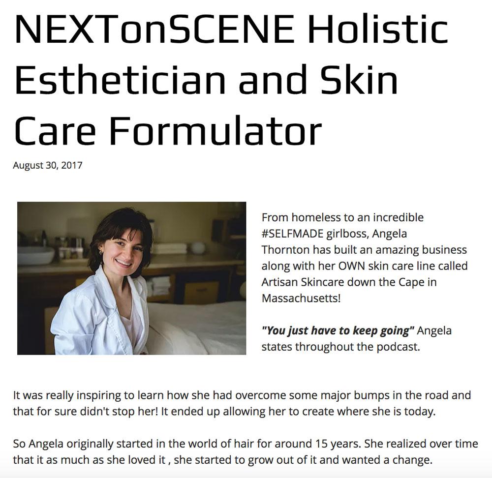 Holistic Esthetician and Skin Care Formulator,NEXTonSCENE Blog: August 2017