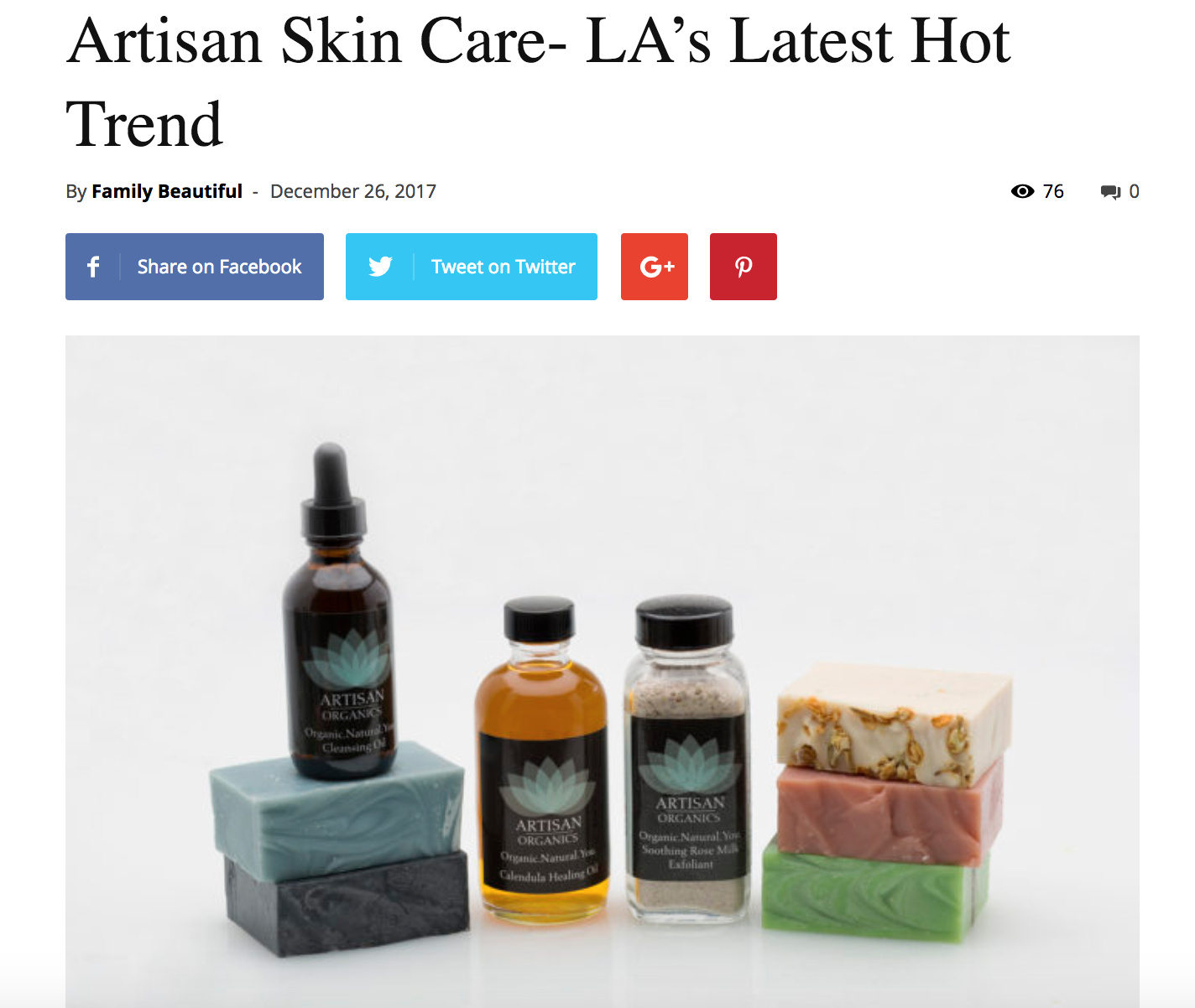 Artisan Skin Care-LA's Latest Hot Trend