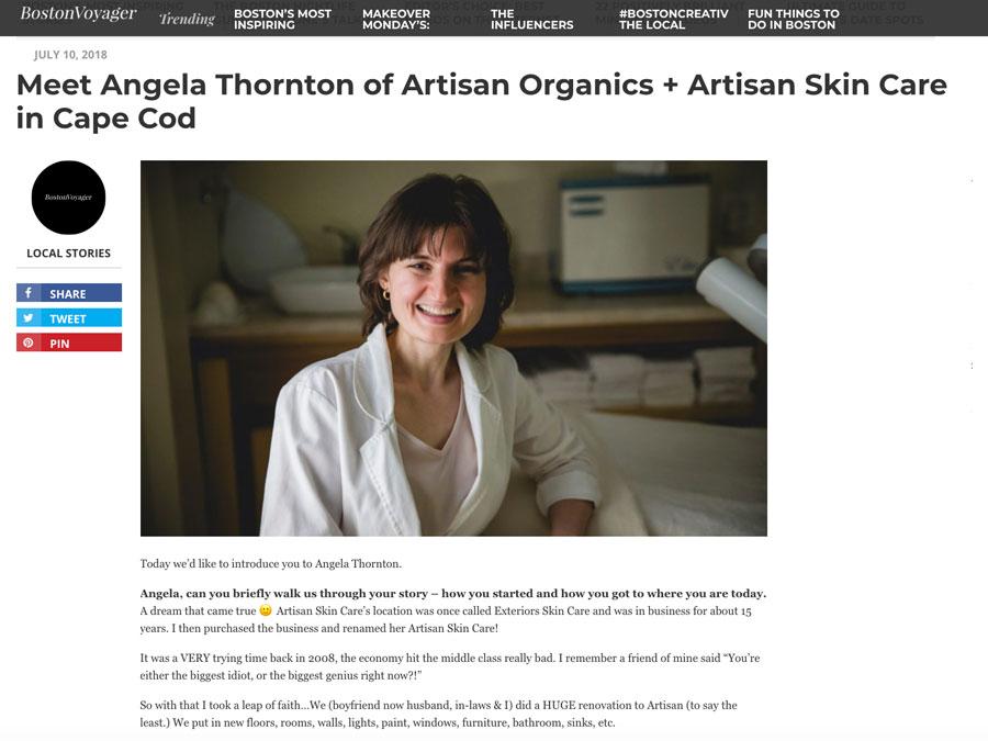 Meet Angela Thornton of Artisan Organics + Artisan Skin Care in Cape Cod