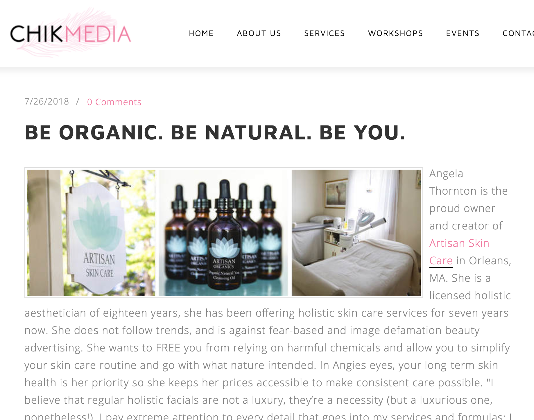 ChikChat: Be Organic. Be Natural. Be You.