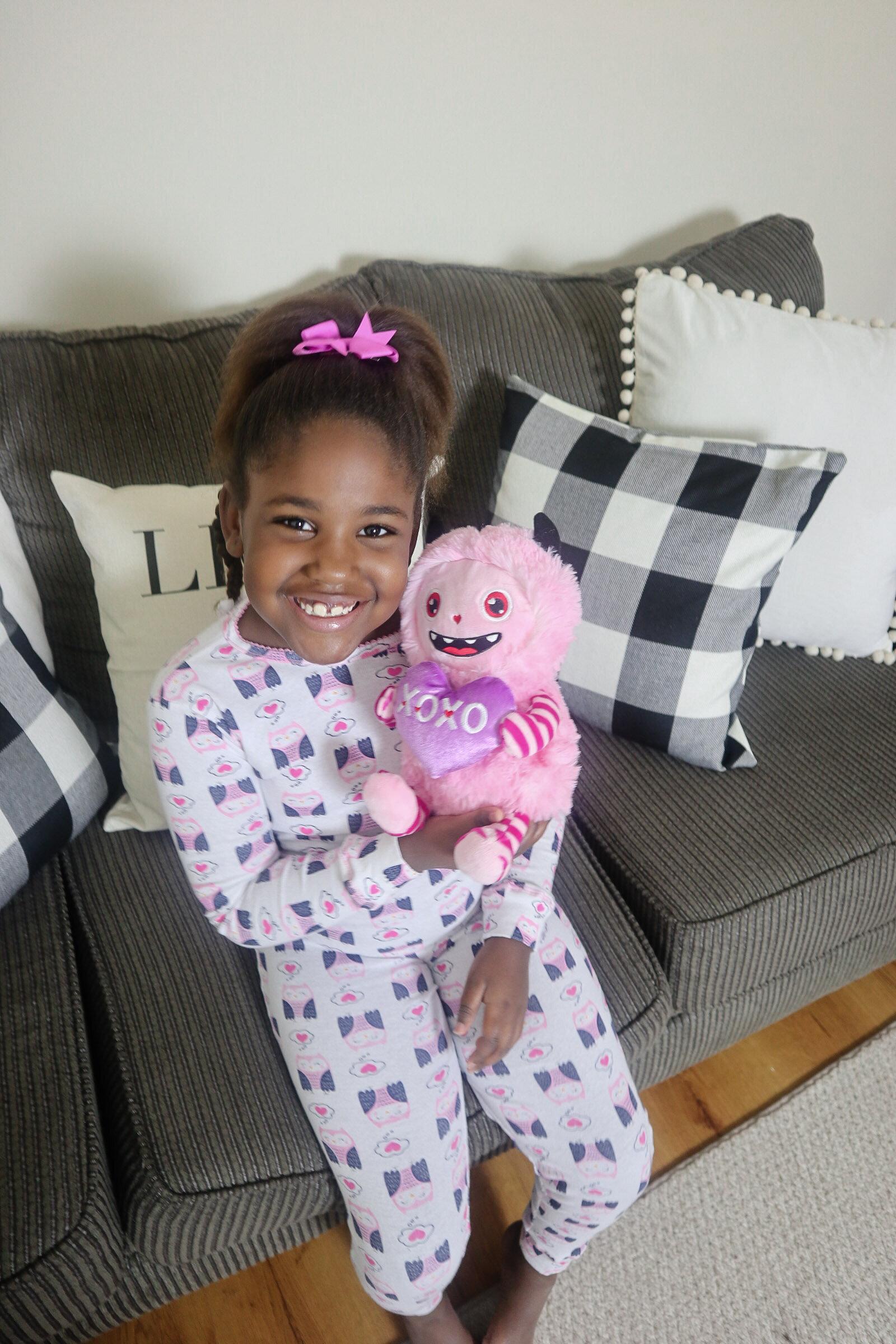 Pajamas from her box!