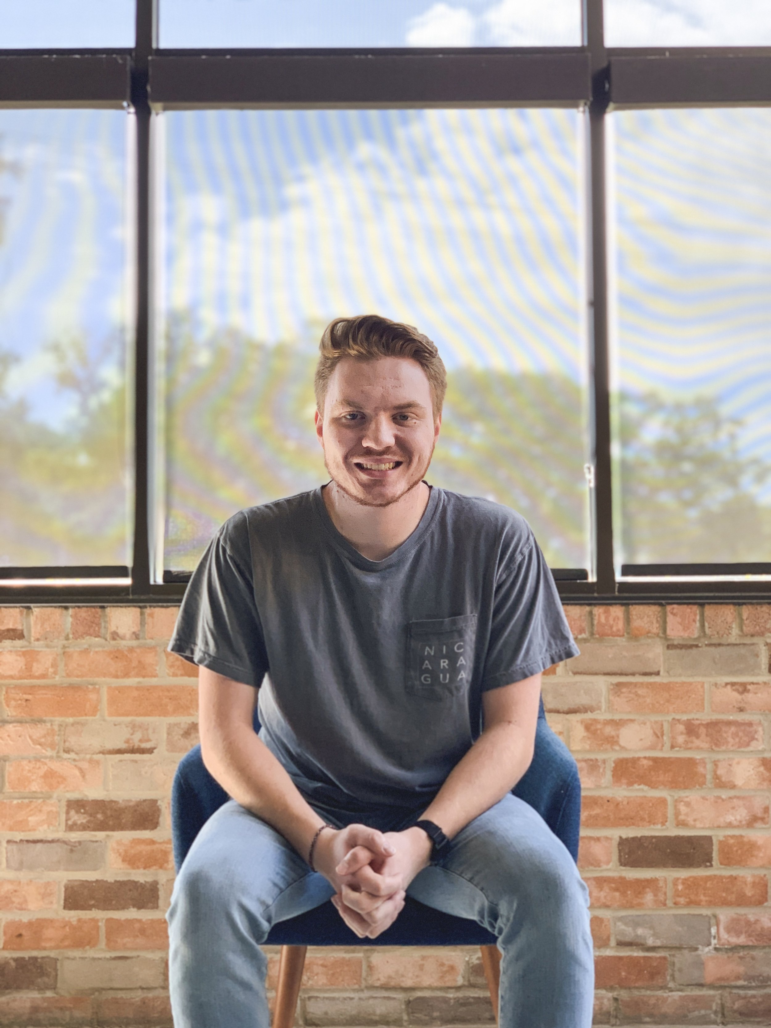 Children's director Nathan Franklin - Nathan is the fifth child of Pastors Ricky and Joni and grew up right here in Roanoke, TX. He serves as our Children's and Communications Director. He has a passion for both children's ministry and missions. He spent a year in Central America as a missionary, working with a ministry called King's Castle that ministers to children. While there, he developed a love for missions, and learned Spanish. Currently, he attends SUM Bible College and Theological Seminary where he is getting his Bachelor of Science in Biblical Studies. You can often find him hanging out in a coffee shop with friends or chasing new experiences.