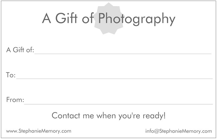 Photography Gift Certificate - Muskoka Photographer