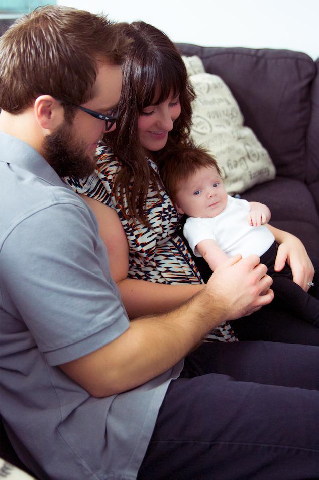 Bri, Cori and Baby Gavin -