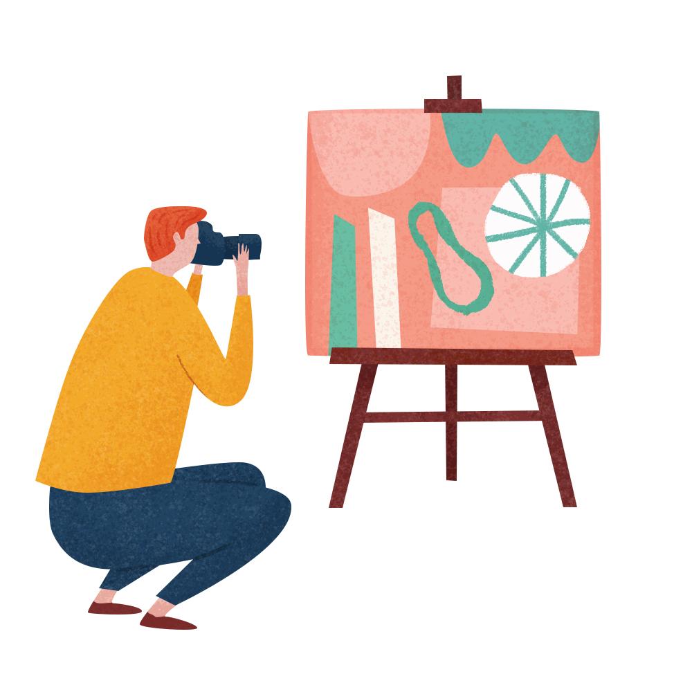 2. Photograph your artwork