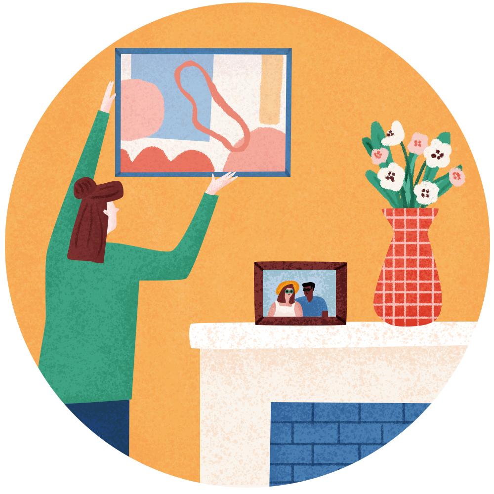 6. Customer receives art