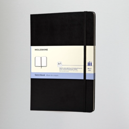 Large Moleskine Sketchbook - available  here  from Cass Art
