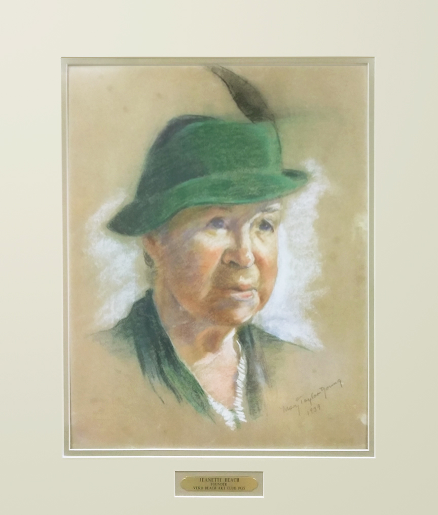 Picture of our Founder Jeanette Beach by Mary Taylor Young 1939