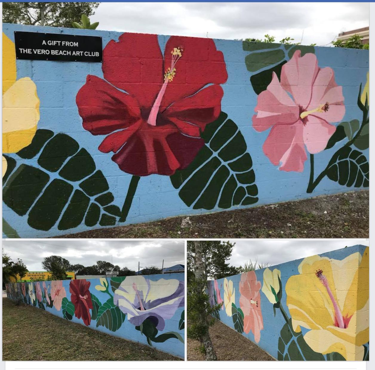 Wall after restoration by Art Club member and artist Carol Makris.