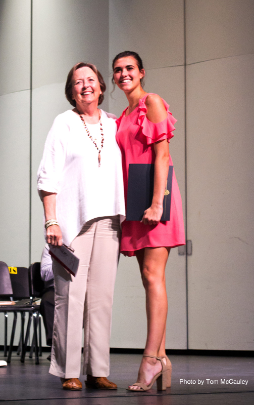 2017-2018 Vero Beach Art Club President Anne Malsbary with Scholarship recipient Brenna Duncanson