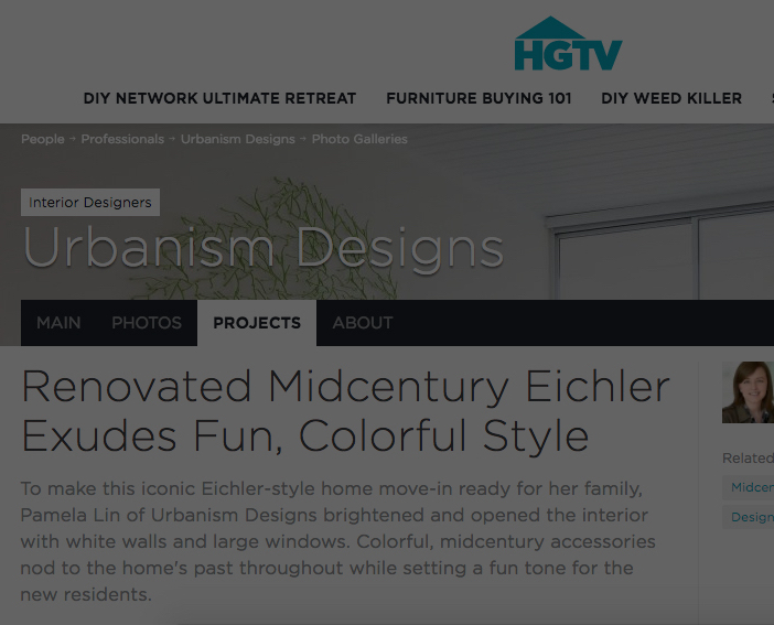 HGTV - Renovated Midcentury Eichler Exudes Fun, Colorful Style
