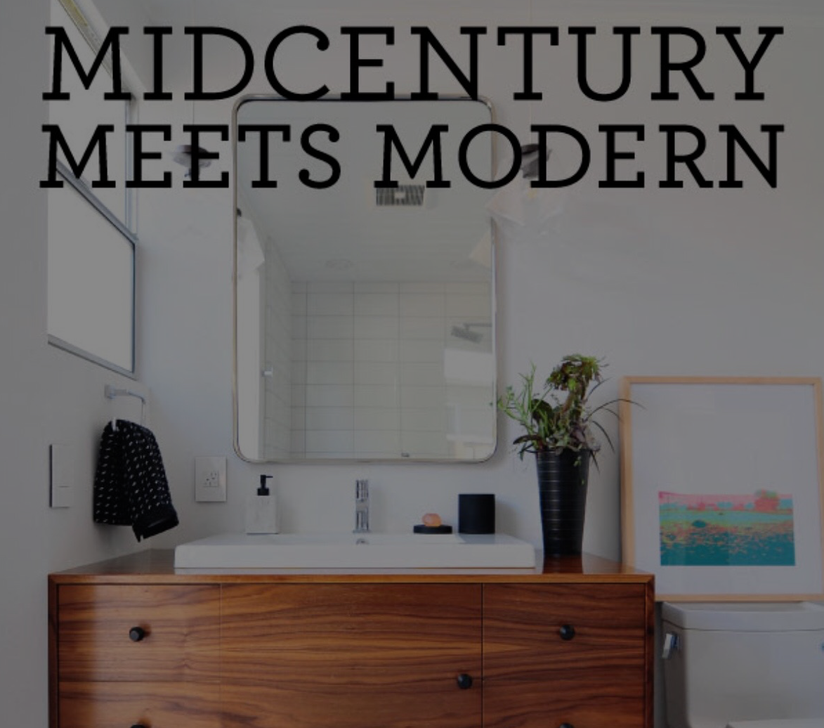 Fireclay Tile - MidCentury Meets Modern Bathroom
