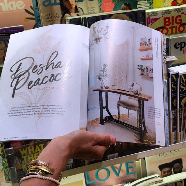 We've been traveling a lot this summer and it's been super fun to see this beautiful spread of @wherewomencreate magazine (the Mindful Studios Summer Issue) in bookstores around the nation + in Canada!  I'm always looking to connect + learn from multi-passionate bosses so I was thrilled to set up a live interview with Jo Packham (founder of @wherewomencreate) to learn how she has grown her publishing empire.  If you could ask Jo anything, what would it be?!?
