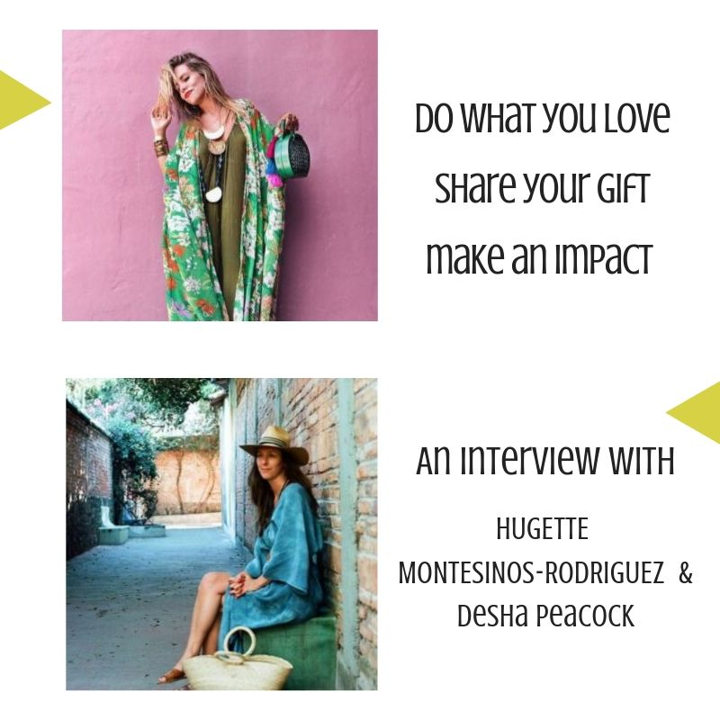 - You are registered!We are excited to see you Friday, Aug 30th at 12 NOON EST for the LIVE interview with Hugette Montesinos-Rodriquez!In this interview we will discuss how to do what you love, share your gift and make an impact. We will send you a reminder email, but you can also copy this link to join us on that day: https://zoom.us/j/829949764See you then!xo Desha