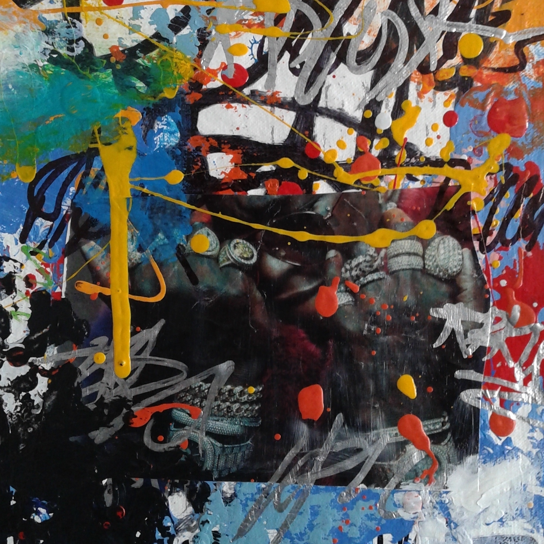 "11"" x 11"" Mixed Media on Canvas"