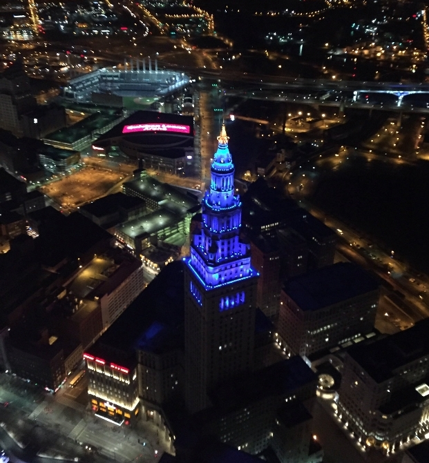 On January 26, 2018, The Salvation Army and The Hue Jackson Foundation partnered on The Blue Spotlight Challenge to raise awareness surrounding Human Trafficking. Cleveland's Terminal Tower was lit up in blue to highlight the issue.