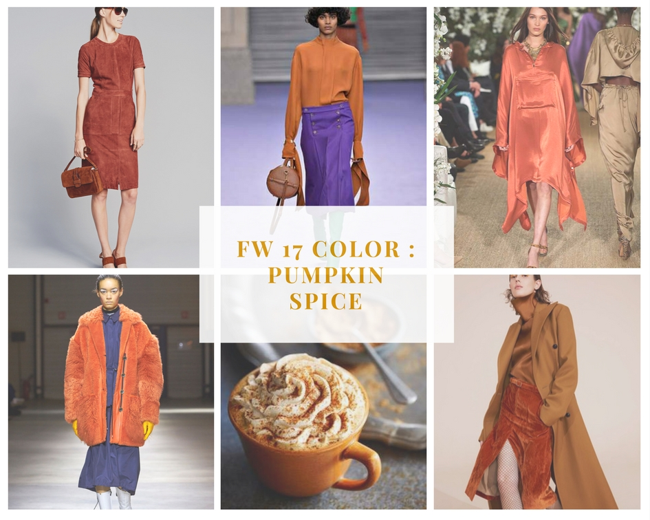 Fall 2017 Color Trend Orange Pumpkin Spice