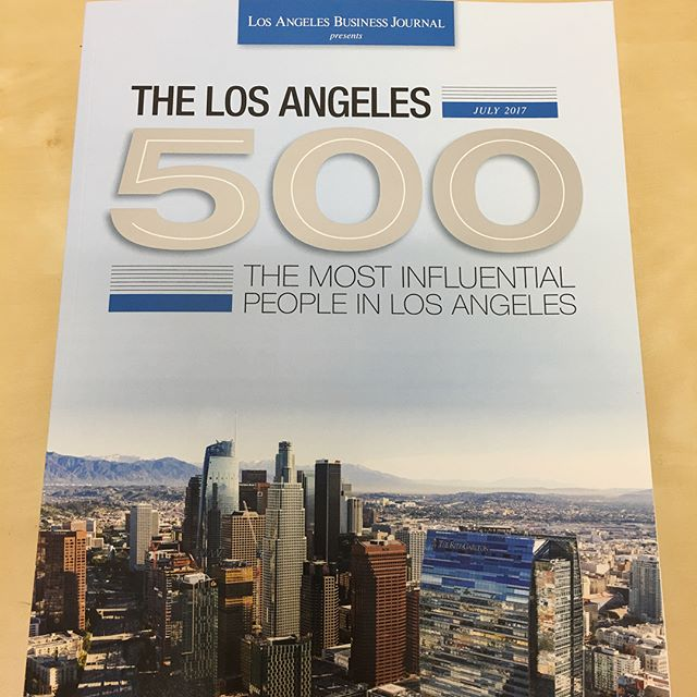 Hot off the presses - LA's 500 most influential people ⭐️🍾 #losangeles @labusinessjournal