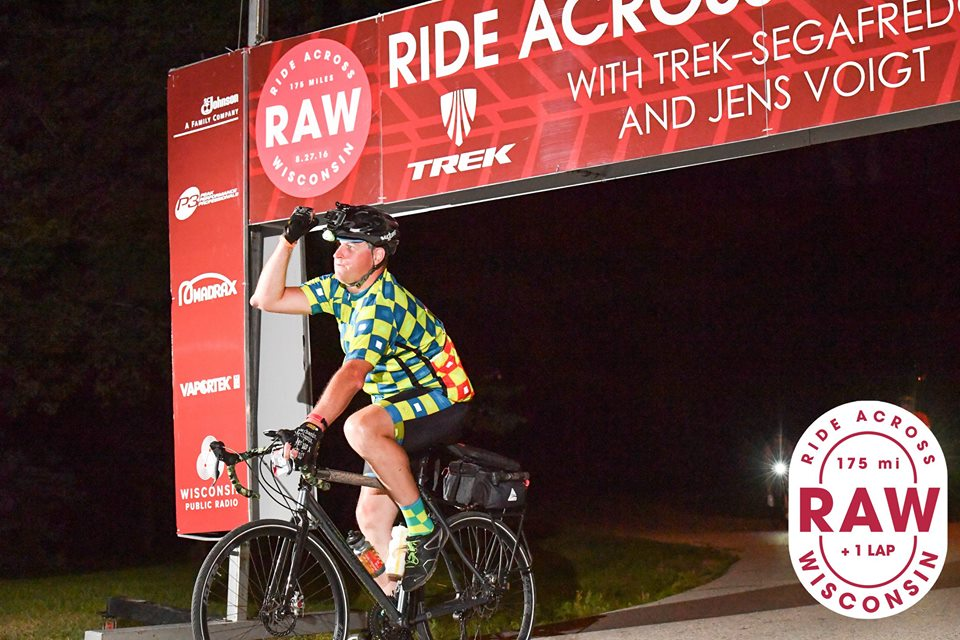 As a part of getting back on track, he got back on the bike as soon as they would let him. In 6 months he had ground out over 3000 miles on the CX bike, and completed the