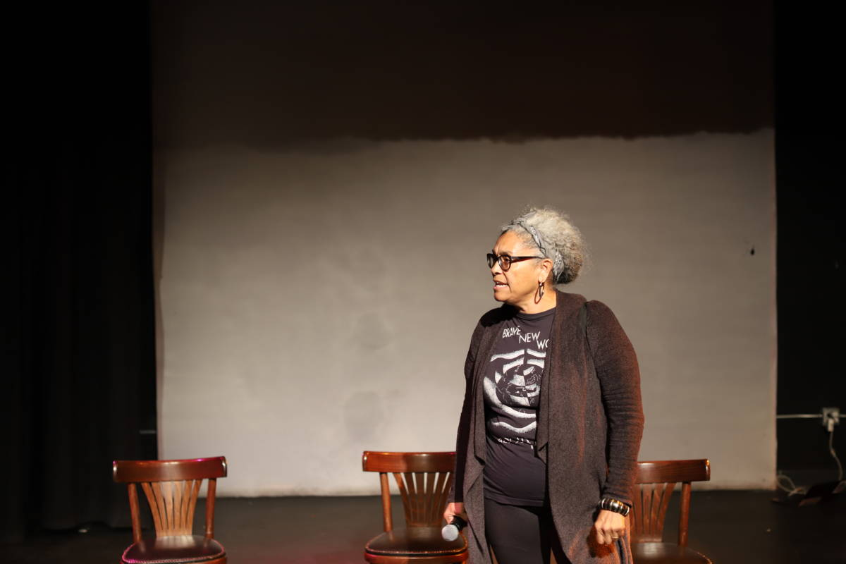Ellen Sebastian Chang emphasized how the racial wealth gap impacts the arts. (Sam Lefebvre:KQED).jpg