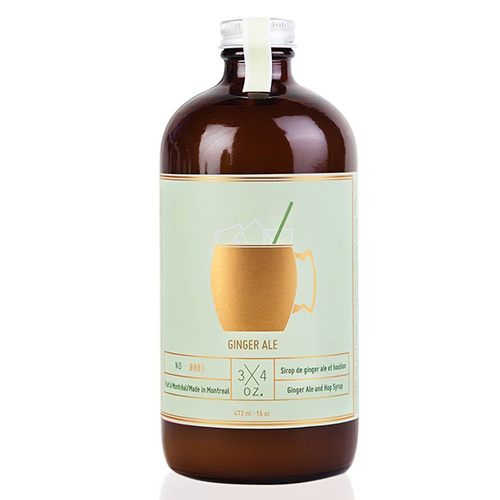 3/4 OZ - Handcrafted Ginger Ale 500ml