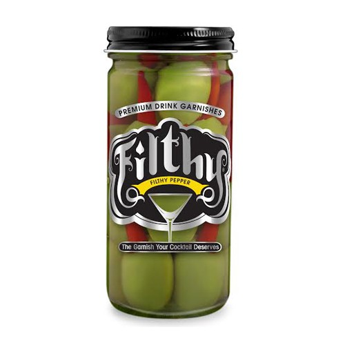 Filthy Food - Hot Pepper Olives 236ml