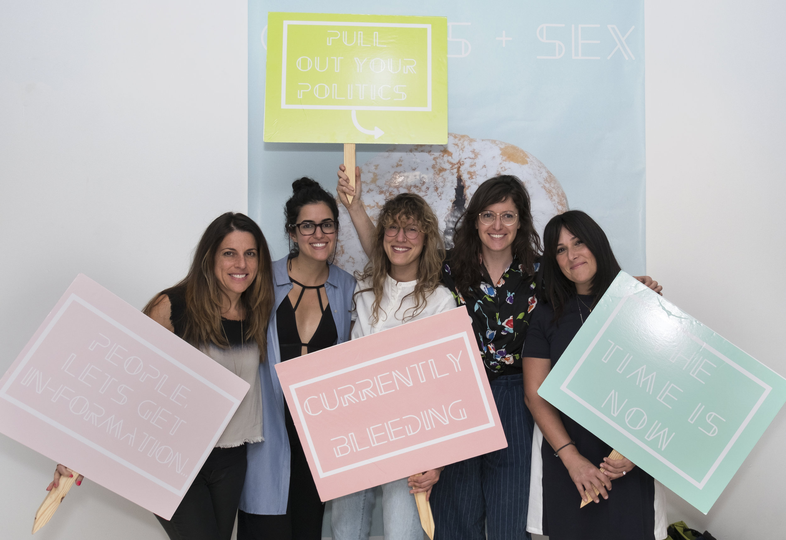 CYCLES + SEX  NYC 2017 with co-founders Natalia Hailes + Lauren Bille and presenters Abby Epstein and Ricki Lake