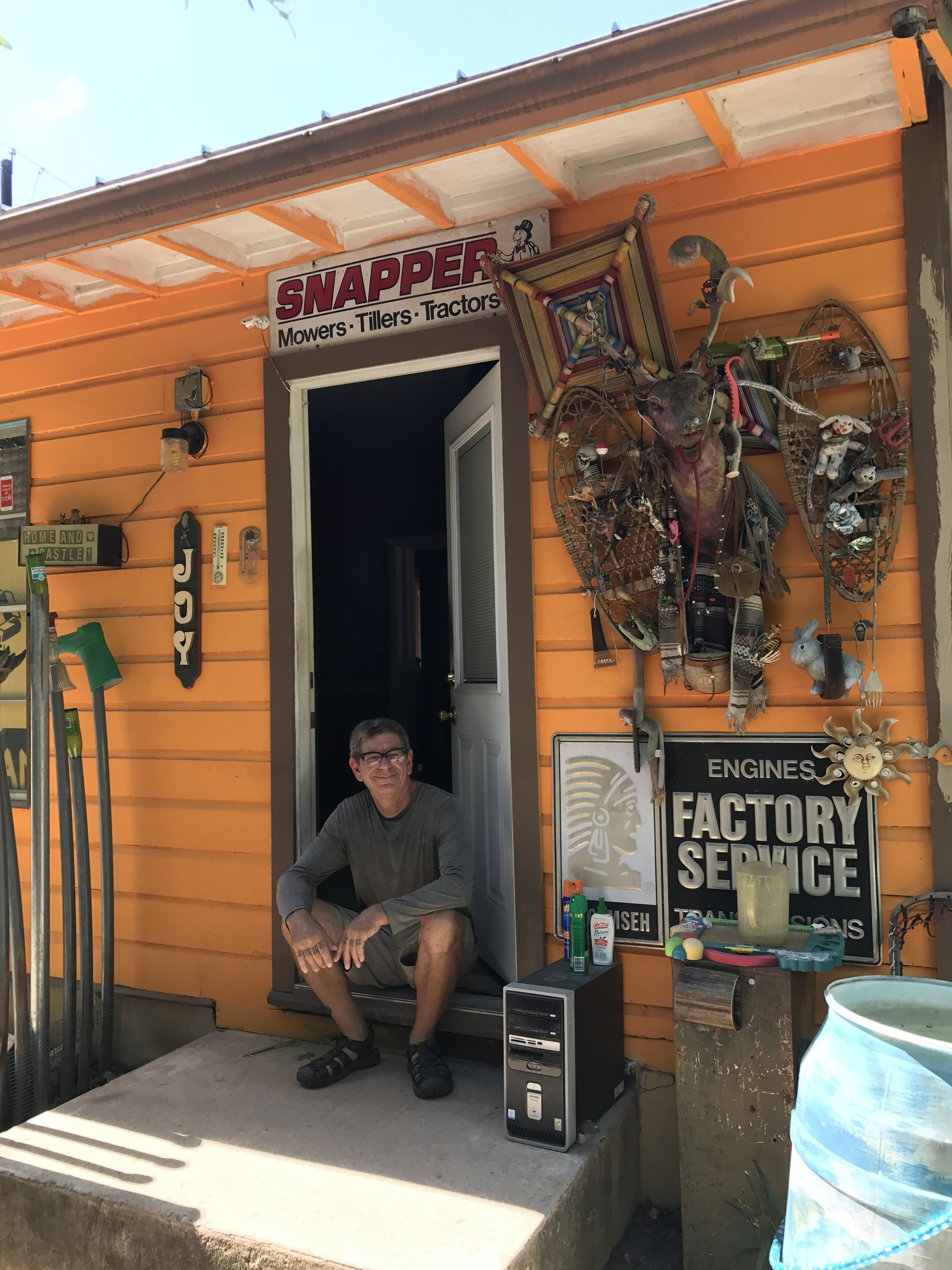 The artist and creator. Contact him for an appointment, don't just show up. The Cathedral of Junk is by appointment only.