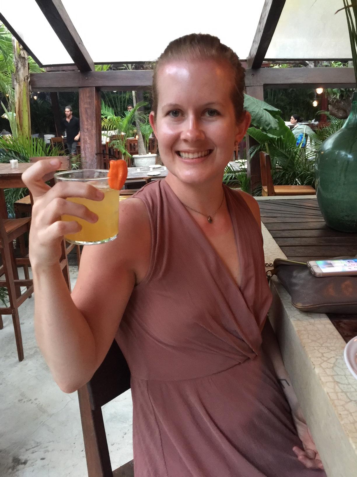 My habanero mezcal drink at Gitano