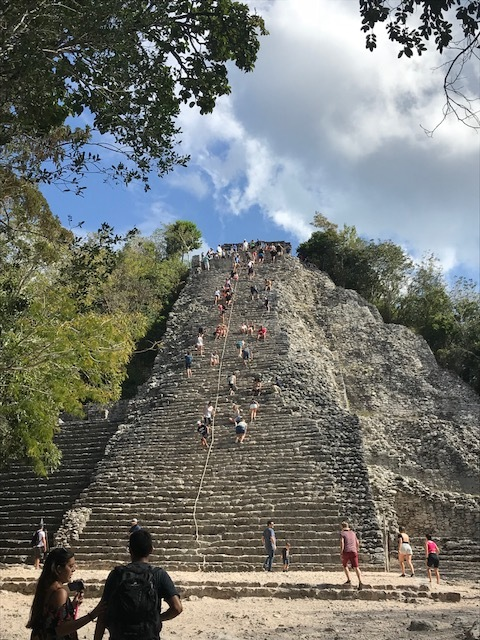 The big ass pyramid at Coba that is really too dangerous to be climbing. Glad that I did get to climb it!