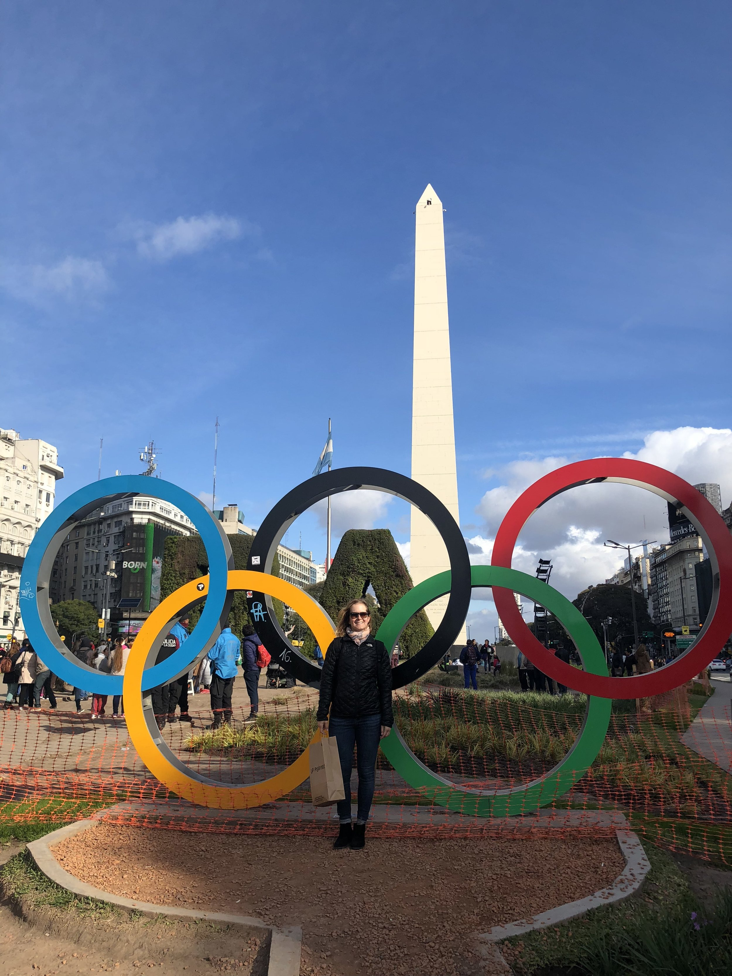 The youth Olympic games were starting a week later so the city was getting ready. Since I am an Olympics nerd, (so is Linds) we had to pose with the rings.