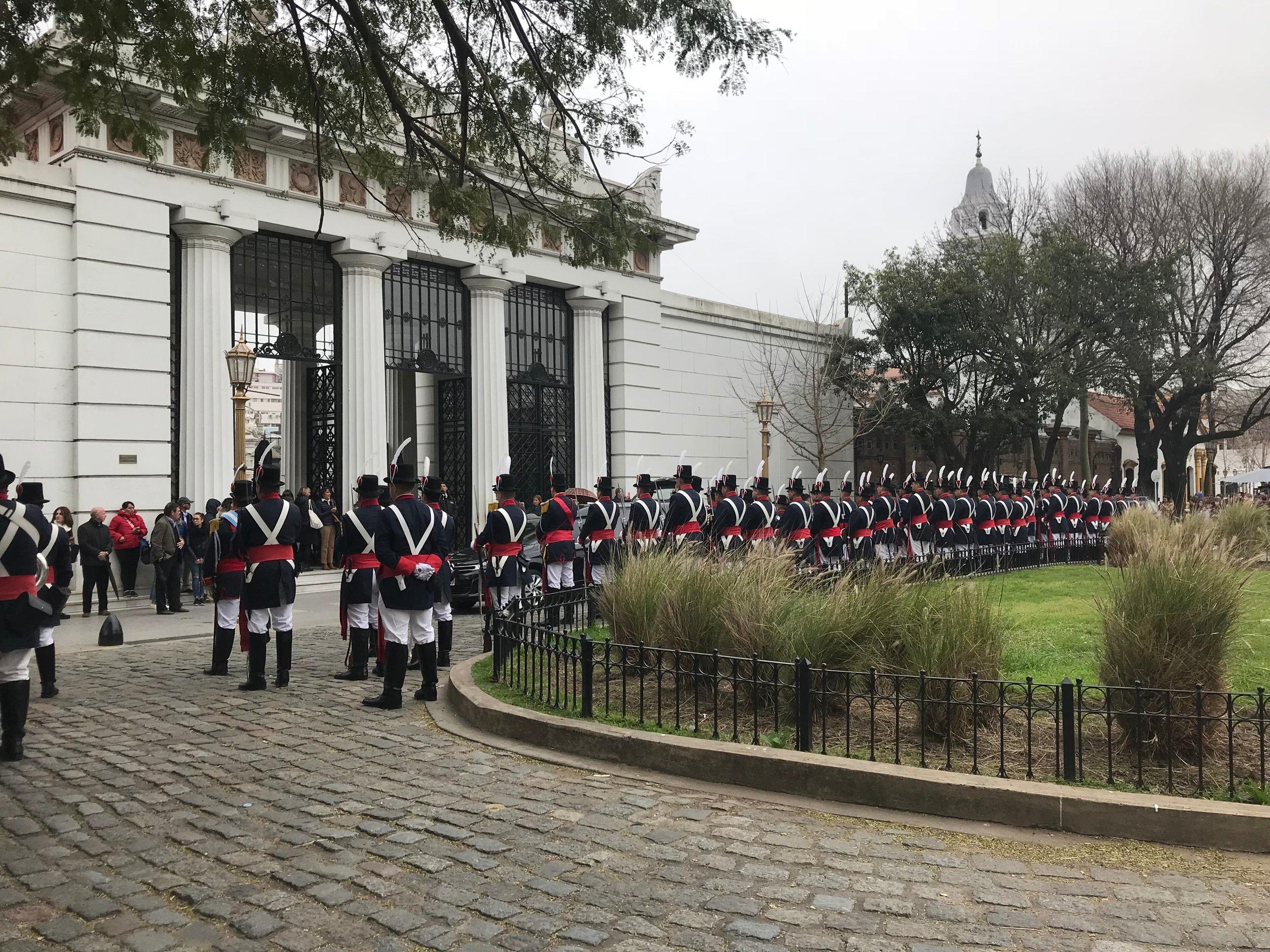 Military Funeral at Recoleta
