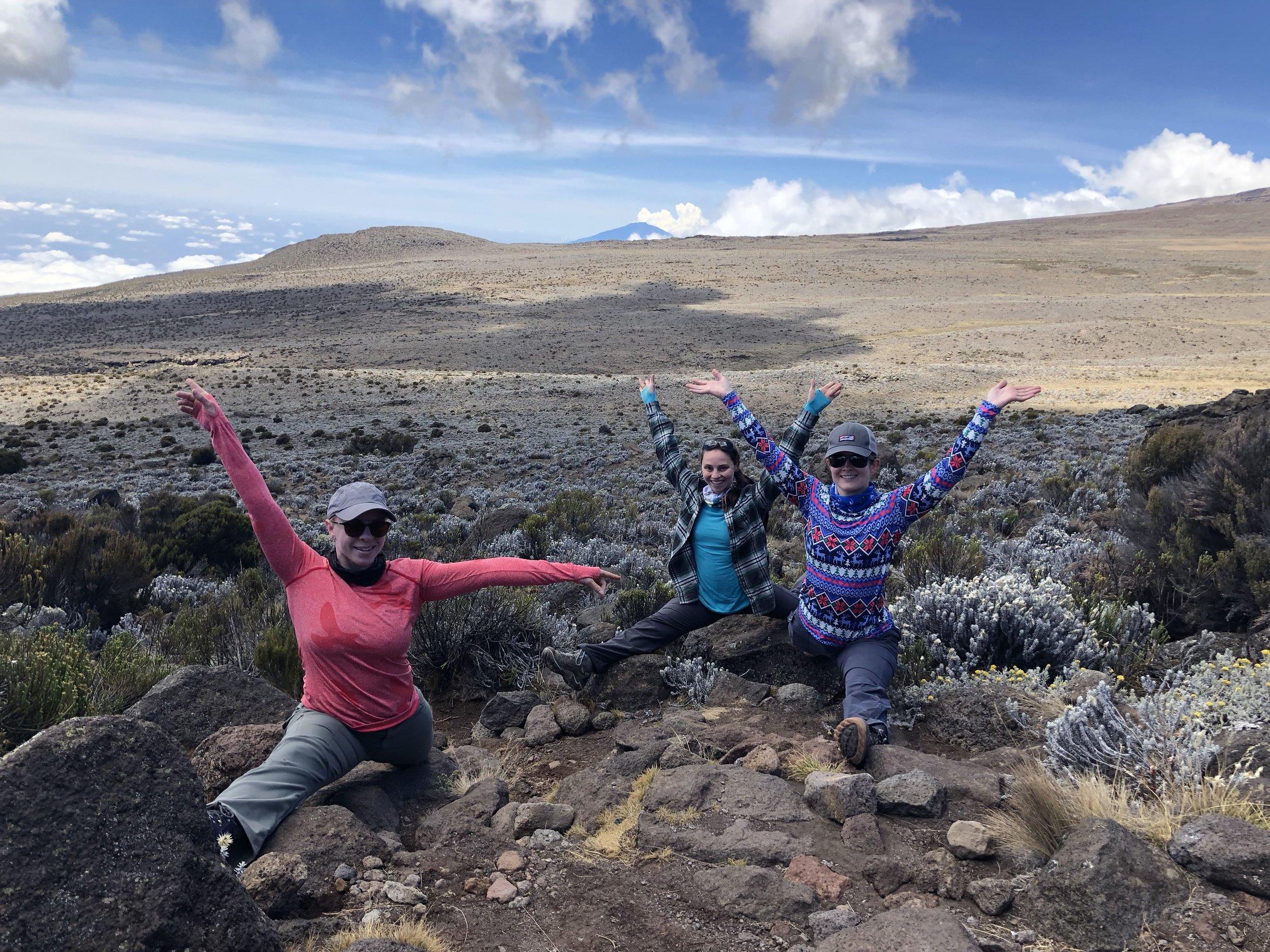 Splits in Kilimanjaro National Park with K and Z.