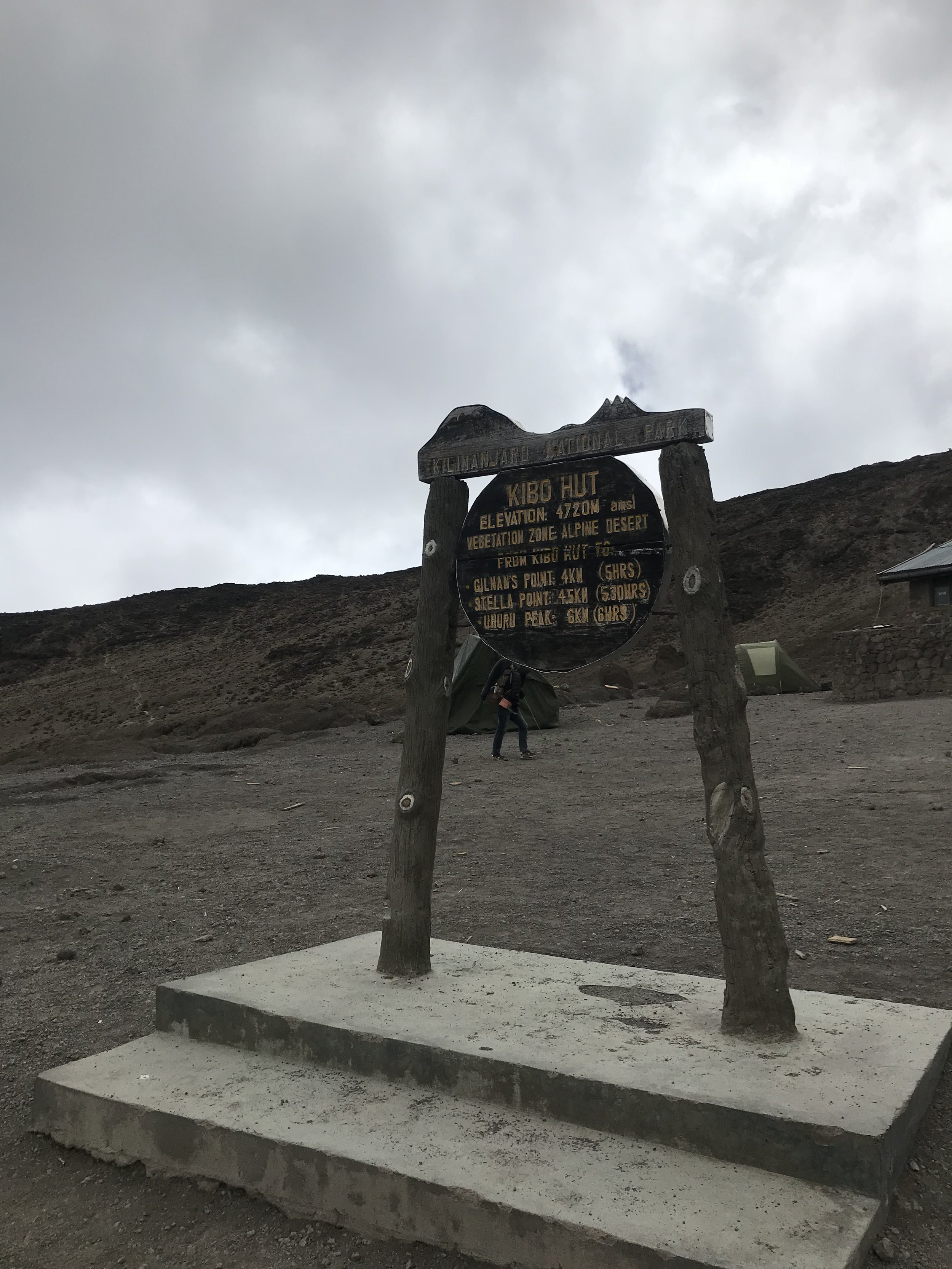 We made it to the top huts! 15, 485' above sea level.