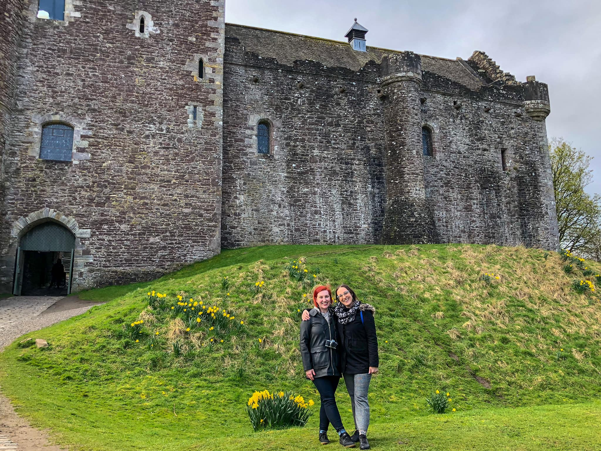 Lindsey and Katherine in Scotland.